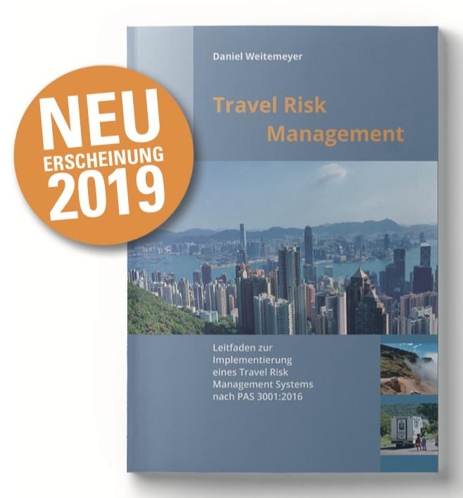 Neuerscheinung Buchcover Travel Risk Management - Daniel Weitemeyer