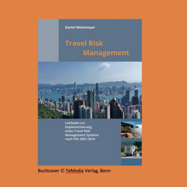Buchcover Leitfaden Travel Risk Management (TeMedia Verlag, Bonn)