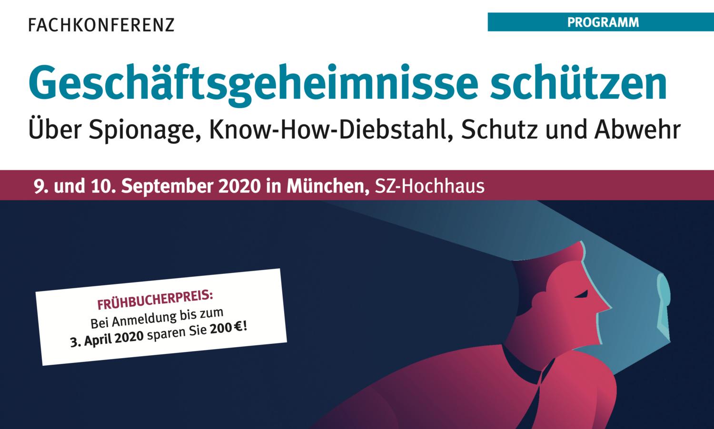 Programm Fachkonferenz 9./10.09.2020 München