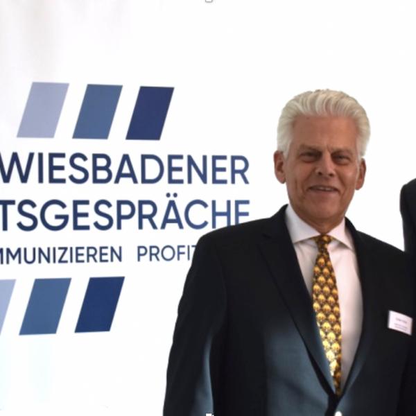 Pressefoto WISIGE 20190212 KWK Geschäftsführer Volker Kraiss und Keynote Speaker Dr. Klaus Gundolf