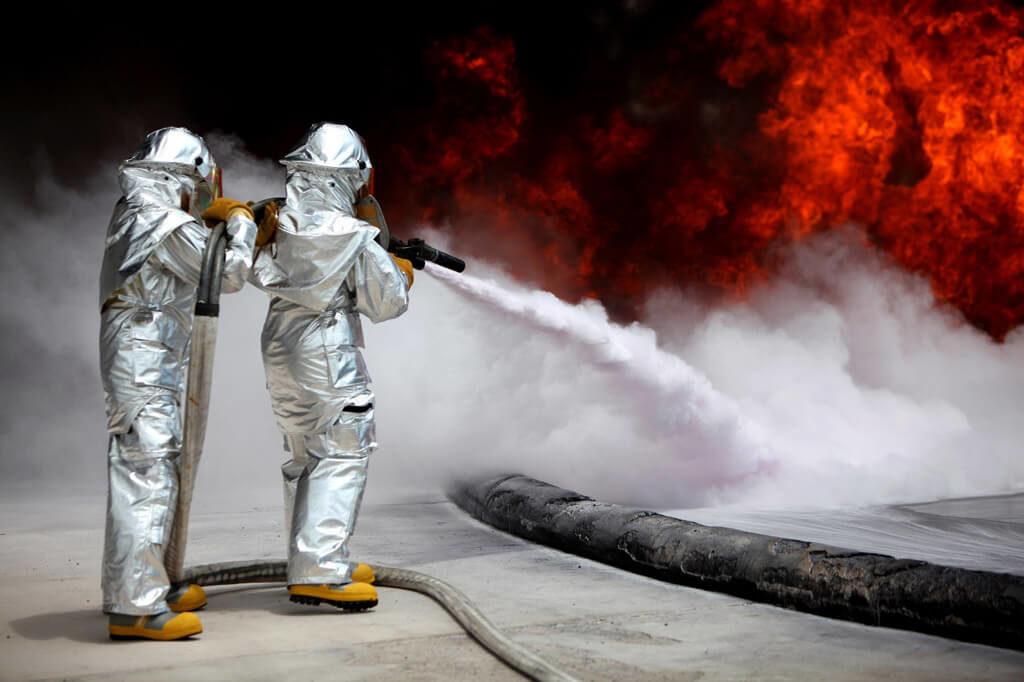 Stock Foto Feuerwehr im Einsatz