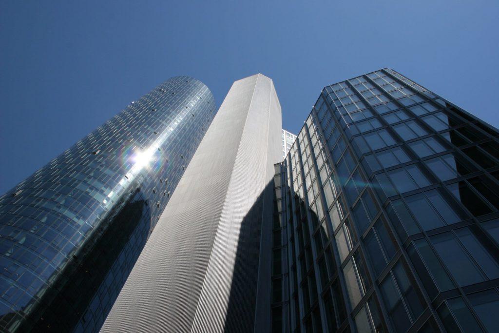 Skyline Frankfurt Bank Stockfoto der KWK GmbH