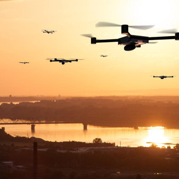 Drohnen im Luftraum