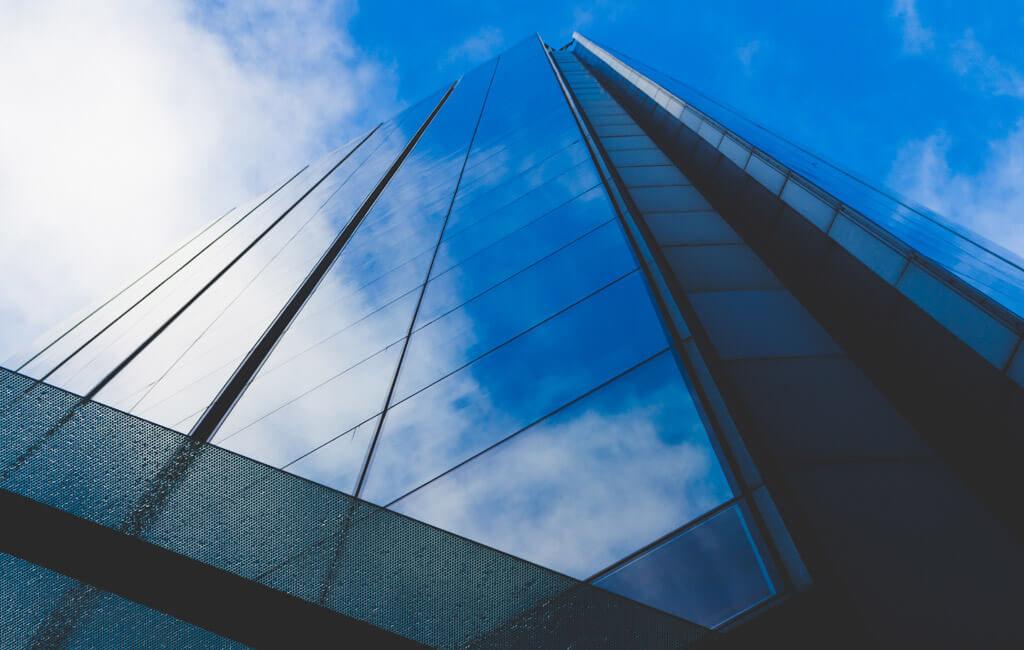 Planung für ein Bürohochhaus-Komplex